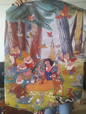 Poster antigo Disney gigante branca de neve