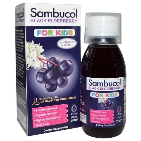 Sambucol, Чёрная бузина, Поддержка иммунной системы, для детей 120 мл