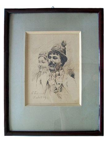 Szkic W. Wodzinowski Kraków 1889r