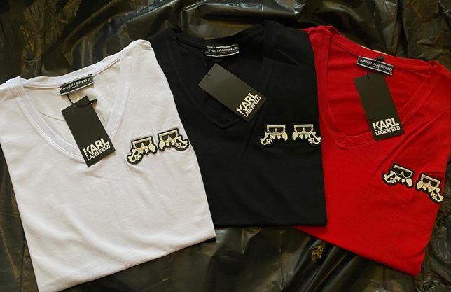Koszulki Karl Lagerfeld Nowość Logowane S-XL