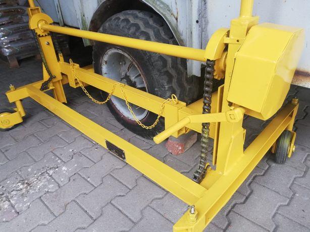 wózek do zdejmowania i zakładania kół