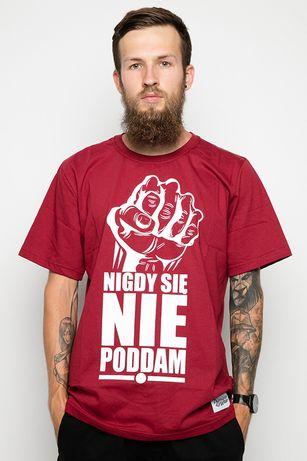 """Koszulka Diamante Wear """"NIGDY SIĘ NIE PODDAM"""" M, JAK NOWA"""
