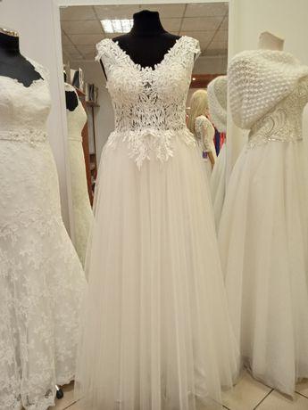 Suknia ślubna nowa koronkowa rozm 38
