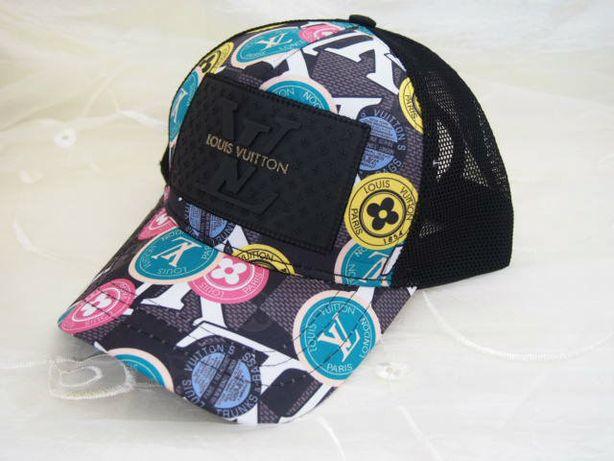 LV kolorowa czapka z daszkiem Louis Vuitton truckerka damska