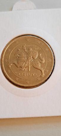 Moneta 50 eurocentów Litva