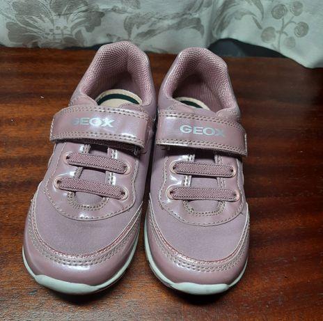 Красивые розовые кроссовки сникерсы для девочки Geox 26 (8.5 UK, 9 US)