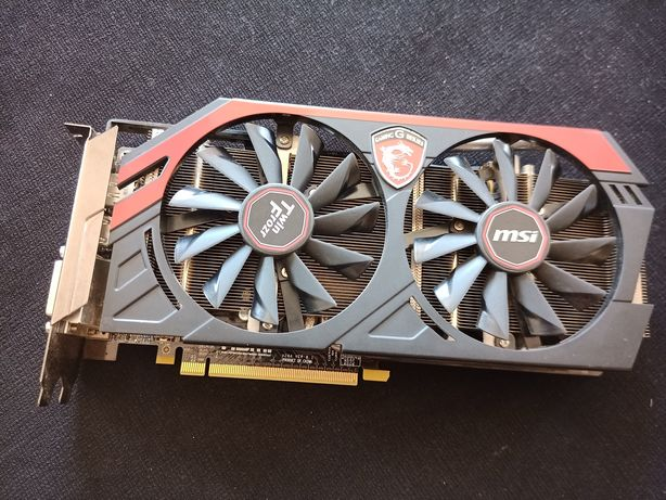 Placa Gráfica MSI GeForce GTX 760 OC Twin Frozr 2GB DDR5 bom estado