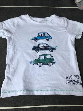 Bluzka t-shirt dla chlopca 98 autka, auta