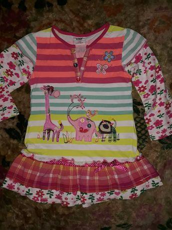 Платье для девочки хлопковое р. 2-3 года, 98 см