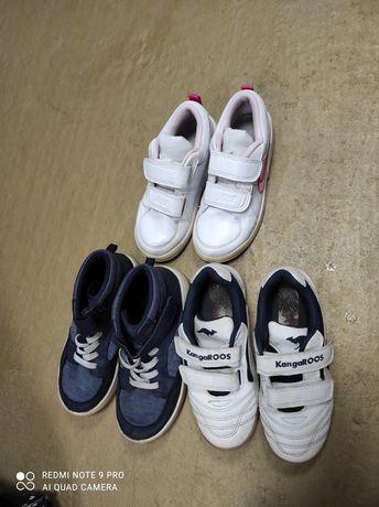 Девчачья обувь 27 размера настоящие nike и kangaroo
