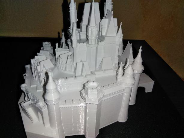 zamek ozdobny bialy
