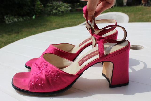 różowe sandały w rozm 40 uk7 wkładka 26cm pink