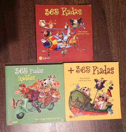 365 piadas - três livros