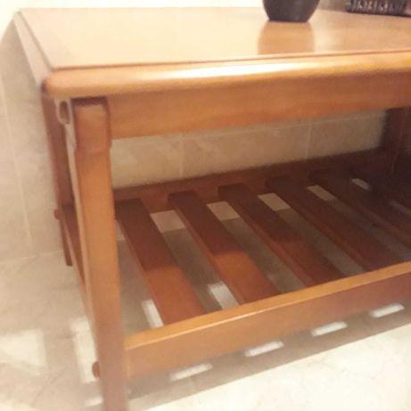 BAIXA PREÇO - Mesa de apoio, madeira maciça