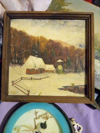Картина зима художник на фото