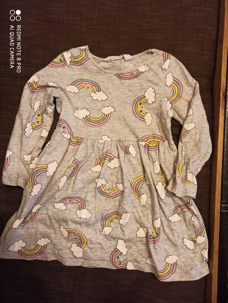 Sukienka HM 98/104 bawelniana