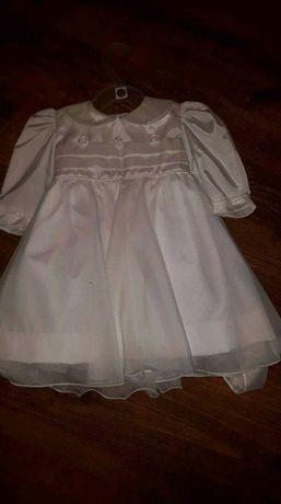 Sukienka biała na chrzciny rozmiar 62