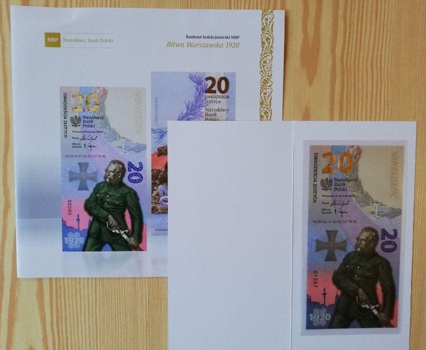 Banknot kolekcjonerski Bitwa Warszawska 1920 NBP Jaworzno - image 1