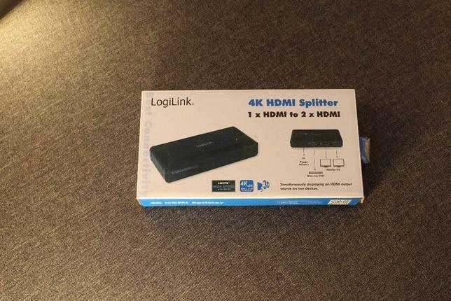 Splitter 4K DisplayPort 1.2 LogiLink CV0090 1xDP->2xDP, UHD 3D