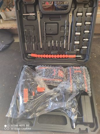 Furadora e parafusar com 2 baterias