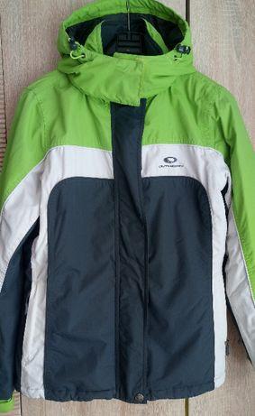 kurtka zimowa zielono biało czarna wodoodporna rozmiar M