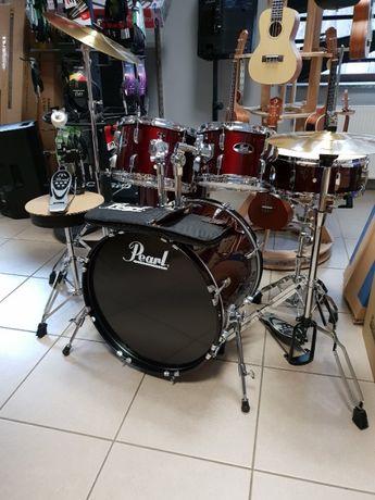 Nowa perkusja zestaw perkusyjny Pearl talerze krzesło sklep Pszczyna