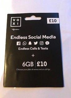 Starter Voxi Vodafone cala Europa Startery 45GB/EU Karta SIM UK GB