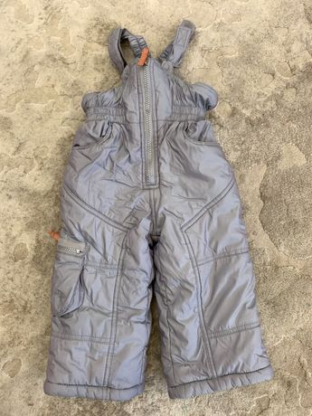 Теплый зимний полукомбинезон зимові штани 80 р