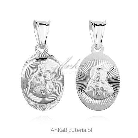 ankabizuteria.pl grzebień do włosów ślubny Kolczyki srebrne owalne koł