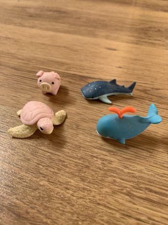 Składane /rozkładane gumki do ścierania zwierzątka wieloryb żółw rekin
