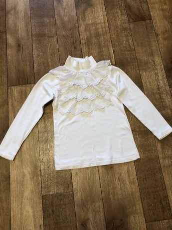 Школьная форма Рост 122-128 см 7-8 лет одежда гольф белый желетка