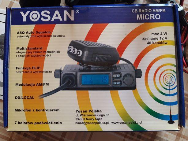 CB radio YOSAN Mikro + antena