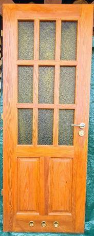 drzwi wewnętrzne, lite drewno, 70 cm