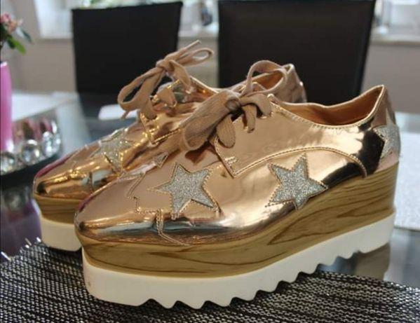 Złote buty rozmiar 39