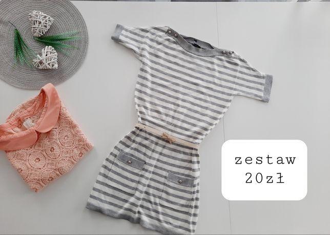 Sukienka sweterkowa + bluzka