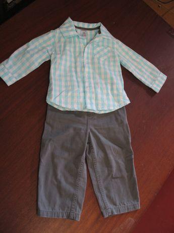 Костюм (джинсы и рубашка) carter's на 18 месяцев