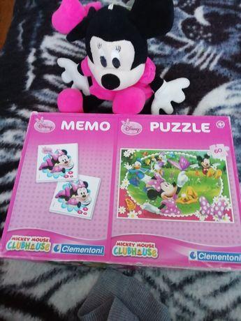 Zestaw puzzli i maskotki
