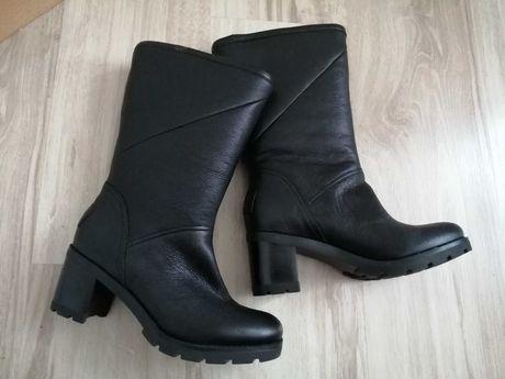 Ugg skórzane buty zimowe na wełnie 36