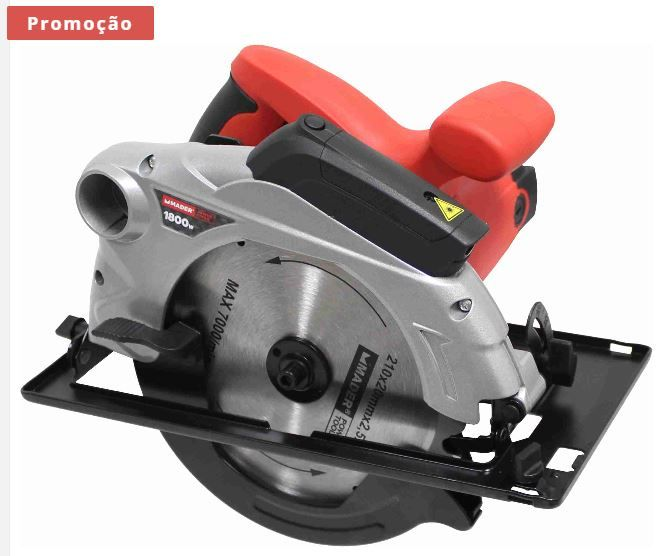 Serra Circular Elétrica 210mm 1800W c/ laser