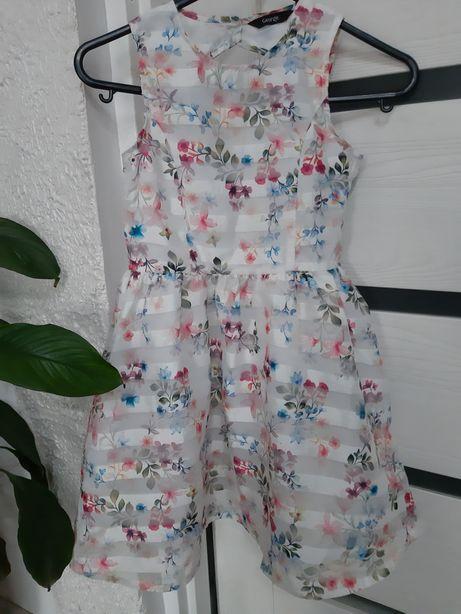 Elegancka sukieneczka george rozmiar 110
