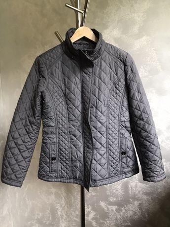 Szara, pikowana, jesienna kurtka Weatherproof