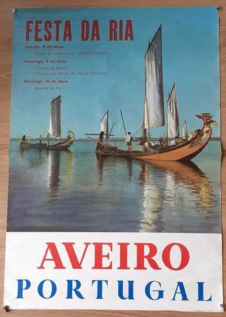 Poster / Cartaz antigo [1966] Aveiro  Festas Da Ria Litografia