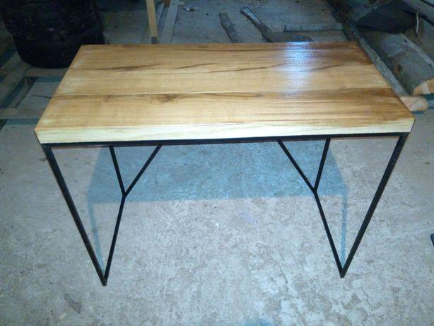 Biurko loft  -dębowe stare deski
