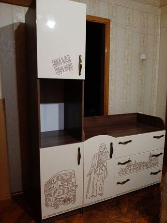 Комод + пенал детская мебель серии Лондон