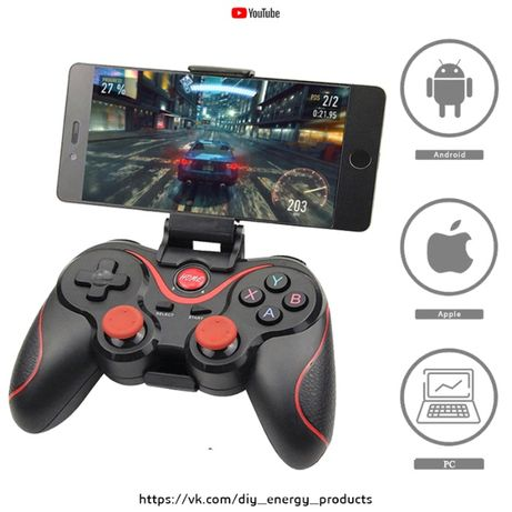 Беспроводной Bluetooth Gamepad. Джойстик для IOS Android, ТВ-приставок
