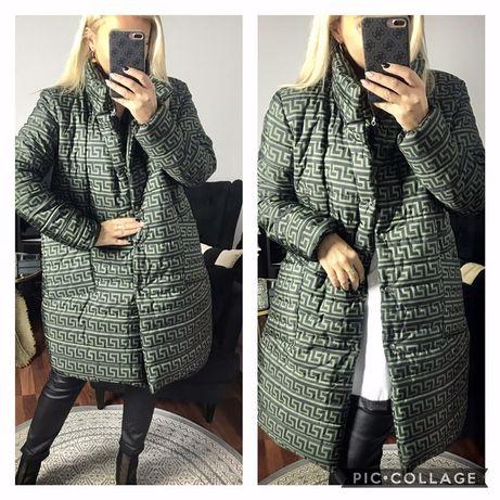Cudne ciepłe kurtki , modny wzor 3 kolory 44,46,48  Szer pachy 63 x 2