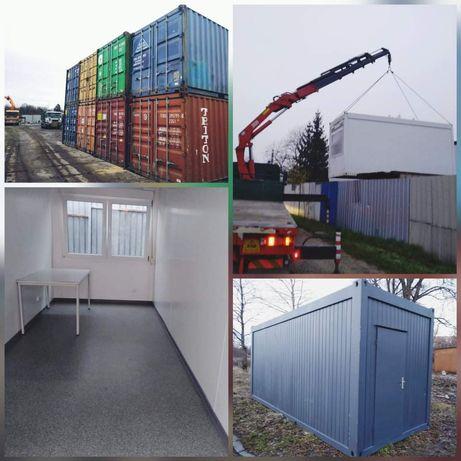 Wynajem kontenerów biurowych, socjalnych i magazynowych, transport HDS