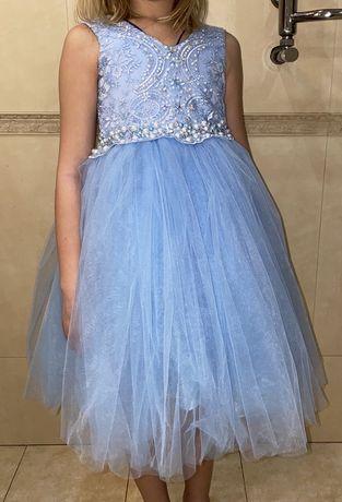 Платье нарядное, рост 128