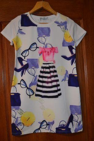 Платье красивое, летнее р 44-46