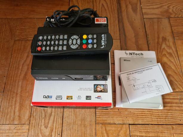 Box TDT NTech Full HD HDM8 Scart com gravação e leitor USB